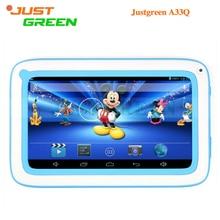 7 Pulgadas 800×480 IPS KidPad Kid Niños Allwinner A33 Quad Core 512 MB 8 GB 0.3MP Cámara WIFI Android 4.4 Justgreen A33Q