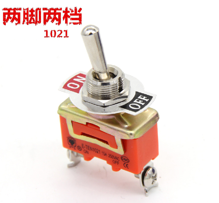 Toggle Switch Wobble Lever SPST ON/OFF 2 Positions 250V 15A 1021 4 10pcs 250v 15a kn1322 toggle switch 6 pins touch on off switches mini small switch controlling the circuits of ac or dc