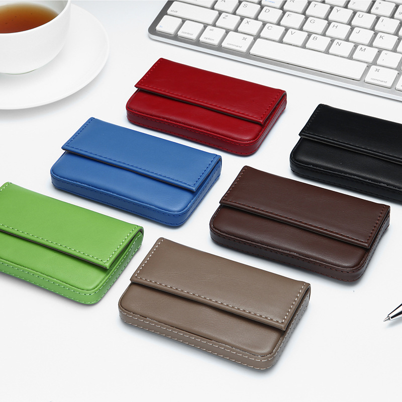 Aliexpress.com : Buy PU Leather ID Credit Card Holder Magnetic ...