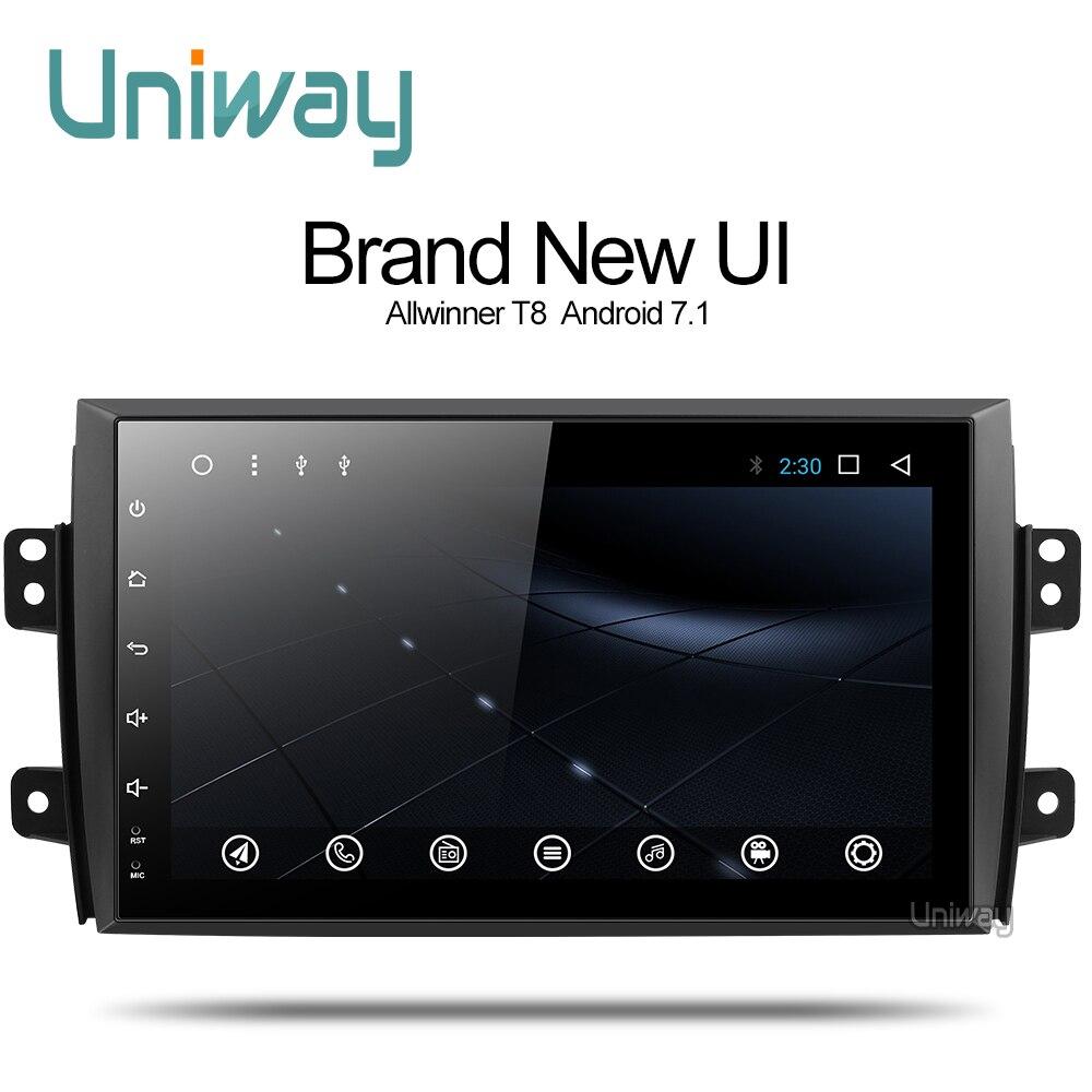 Uniway ATY9071 2G + 16G Android 7.1 dvd do carro para Suzuki SX4 2006 2007 2008 2009 2010 2011 2012 2013 navegação gps rádio do carro