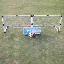 2Pcs Mini Football Soccer Ball Goal Folding Post Net + Pump Kids Sport Indoor Outdoor Games Toys Kids