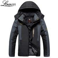 LOMAIYI Plus Size L 9XL Thick Winter Jackets Men Waterproof Windproof Warm Fleece Lining Coat Black