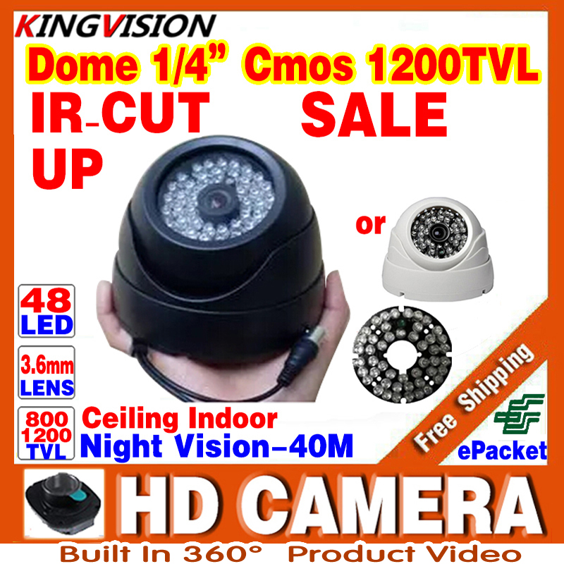 Hd Security CCTV AHDL Camera 1/3cmos 800/1200TVL Video Waterproof IP66 Night Vision IRCUT Indoor Dome Surveillance 48LED Upgrad hd real 1 3cmos 1200tvl cctv analog camera security surveillance indoor dome 22leds infrared ircut night vision color home video