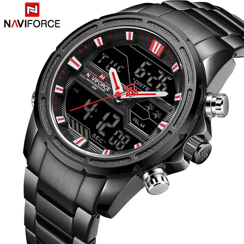 0e78942a1 Men Watches Top Luxury Brand NAVIFORCE Male Sport Waterproof Full Steel  Wrist Watch Men's Quartz Digital