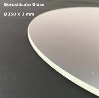 Borosilicate Glass Round 350mm * 3mm TEVO Little Monster Delta 3D Printer Build Print Plate Transparent Color - DISCOUNT ITEM  5 OFF Computer & Office