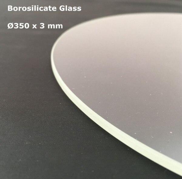 Vidro de borosilicato Rodada 350mm * 3mm TEVO Pequeno Monstro Delta 3D Compilação Impressora da Placa de Impressão de Cor Transparente