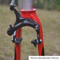 Liga de estrada Bicicleta Freio Conjunto Paquímetro 47-72mm Alcance Dianteiro Traseiro Freios Da Bicicleta Ciclismo Resina De Freio Duplo Pivot puxar Pinça de Freio