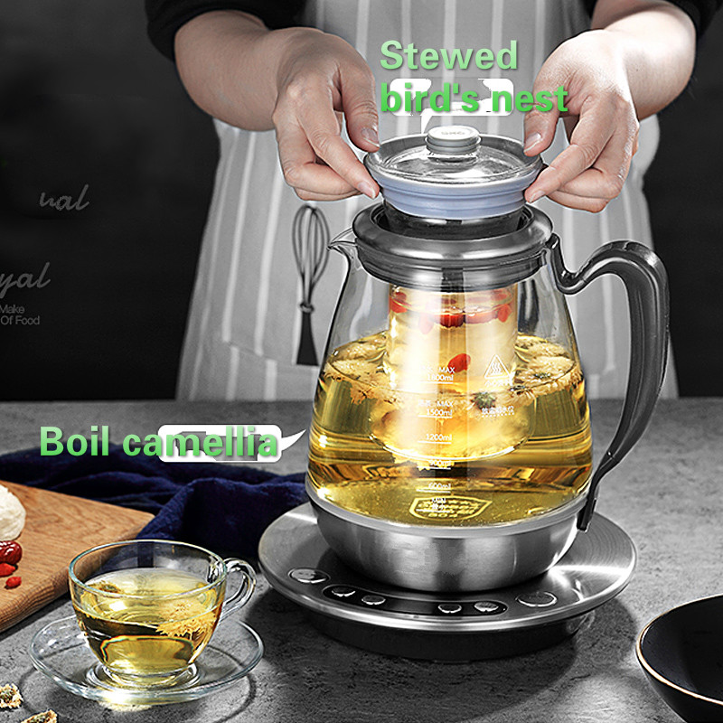 stewed stainless steel teapot with a heavy glass family of multi-functional boiled tea pot bir /electric kettle стоимость