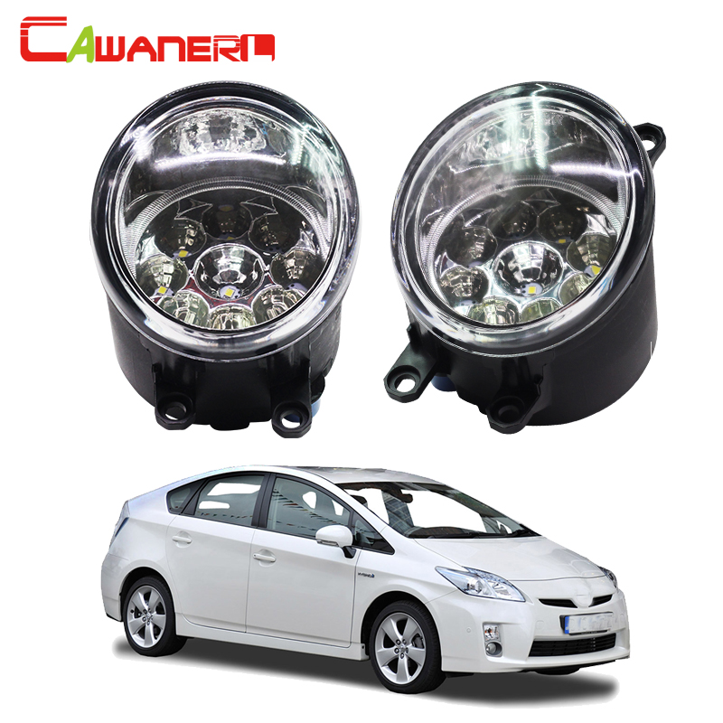 Cawanerl H8 H11 Auto Fog Light DRL Daytime Running Light Car LED Lamp Bulb For Toyota Prius Hatchback (ZVW3_) 1.8 Hybrid 2009- special car trunk mats for toyota all models corolla camry rav4 auris prius yalis avensis 2014 accessories car styling auto