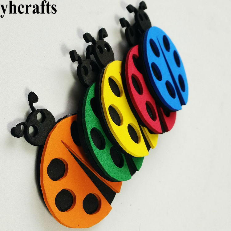 5PCS/LOT,3D colorful ladybug ladybug butterfly Bird Crab Fish Mermaid Snail EVA foam shape without stickers Easter crafts Kids