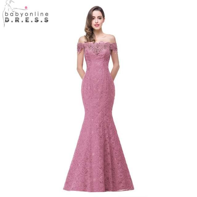 Menos de  50 Elegante Rojo y Azul Real Vestidos Largos de Noche de Encaje  Con Cuentas 86ce37b9d61b