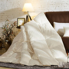 ship from us ivory king queen twin three duvet bedding true 100 goose down duvet quilt double stitch duvets