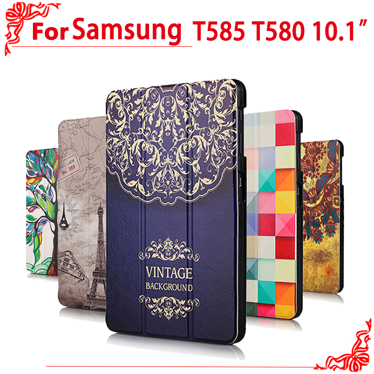 T580 T585 case Newset High Quality Case cover For Samsung Galaxy Tab A 10.1 2016 T585 T580 SM-T580 T580N 10.1 tablet Pc samsung rs 552 nruasl