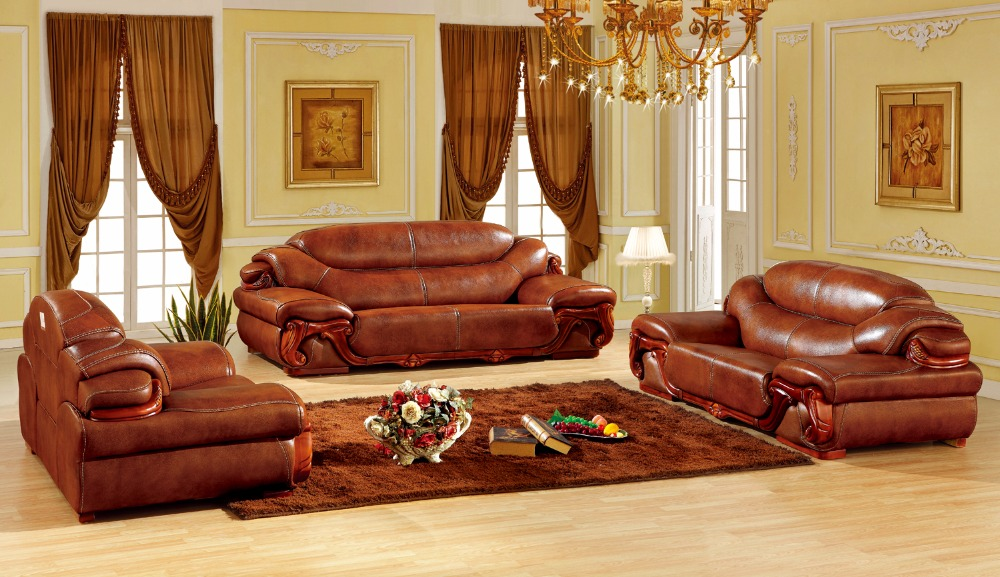 European Leather Sofa Set Living Room Made In China Sectional