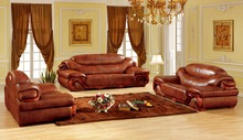 European leather sofa set living room sofa made in China sectional sofa wooden frame 1+2+3