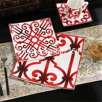 2018 Ceramic tableware set Porcelain plate bowl spoon and pot Bone china plate creative sets Free shipping