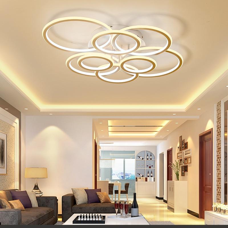 Акрил Алюминий современные светодиодные светильники потолочные для гостиной Спальня Новый Белый Современный теплый белый Потолочный свет...