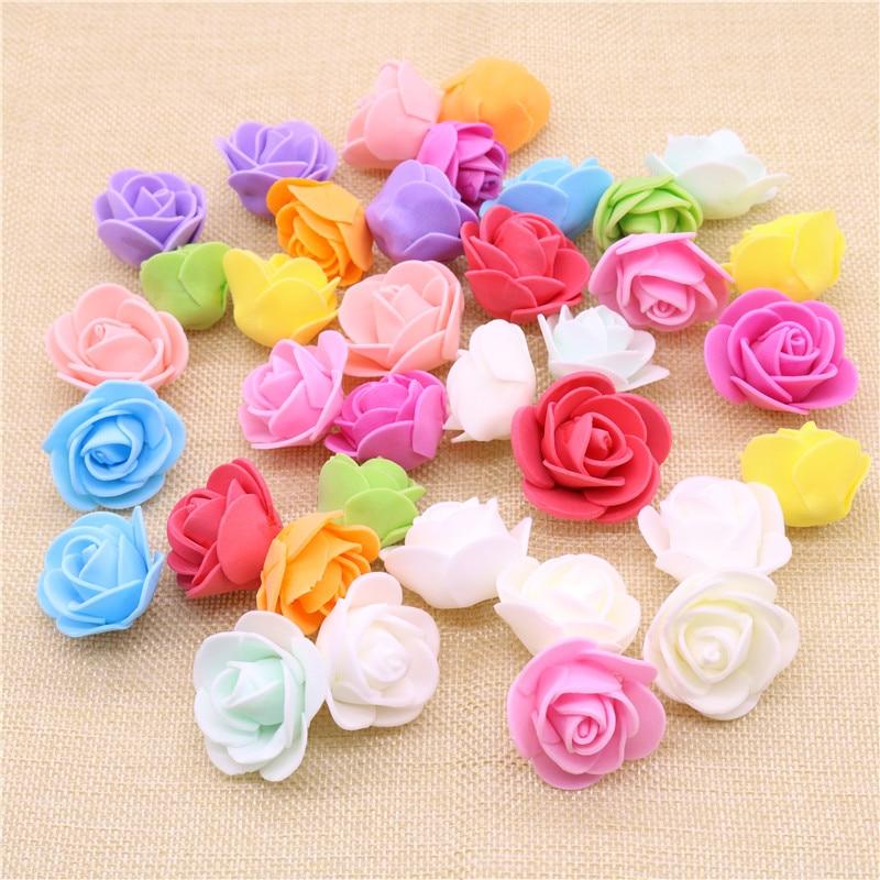 Wedding Car Decoration Diy : Mini pe foam rose artificial flowers for wedding car decoration diy