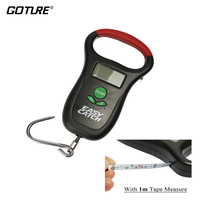 Goture Digital Fishing Scale With Tape Measure LCD Display Waterproof Max Weight 55lb 25kg For Luggage