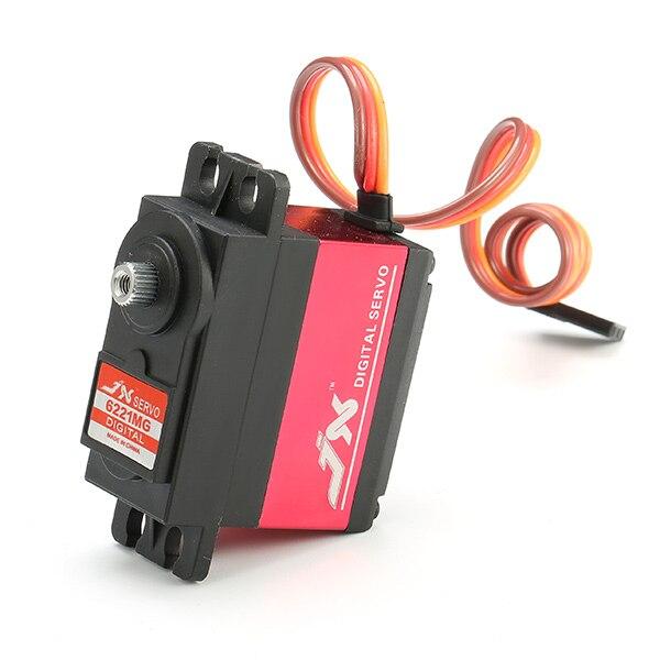 цена на JX PDI-6221MG 20KG Large Torque Digital Standard Servo 360 Degree CCW For Rc Models