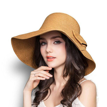 SUOGRY Summer hats for women straw hat beach sun wide brim floppy