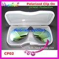 Óculos de aviador óculos de sol óculos polarizados Clip On TAC Lens UV400 com proteção de plástico de CP02H