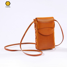 Vintage Phone Bag Case Vegetable Leather Sling Small Messenger