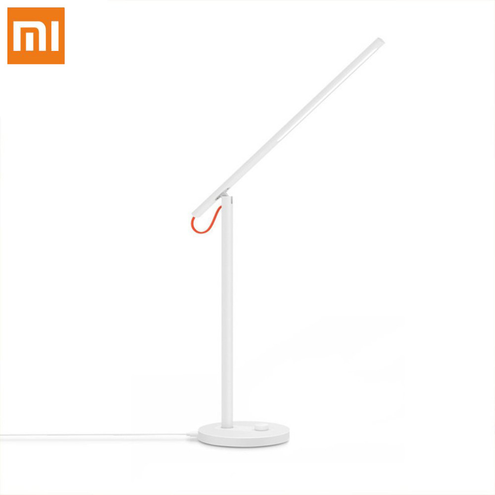 Xiaomi Mijia LED Desk Lamp Smart Table Lamps Foldable Support Smart Phone App Remote Control 4 Light Modes xiaomi mi smart led desk lamp table english version lamps desk light smartphone app remote control with redmi 4 lighting mode
