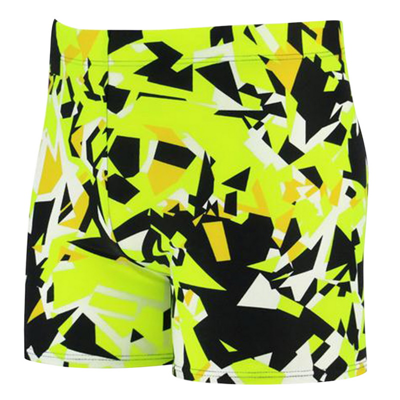 CALOFE Printed Swim Shorts For Men High Elastic Trunks Quick Dry Summer Board Shorts 2018 Brand Swimming Board Short Pants Wear