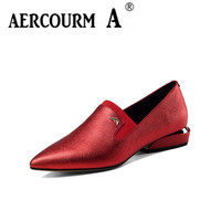 Aercourm A New Women Shoes 2017 Women Genuine Leather Shoes Office Career Shoes Women High Heels