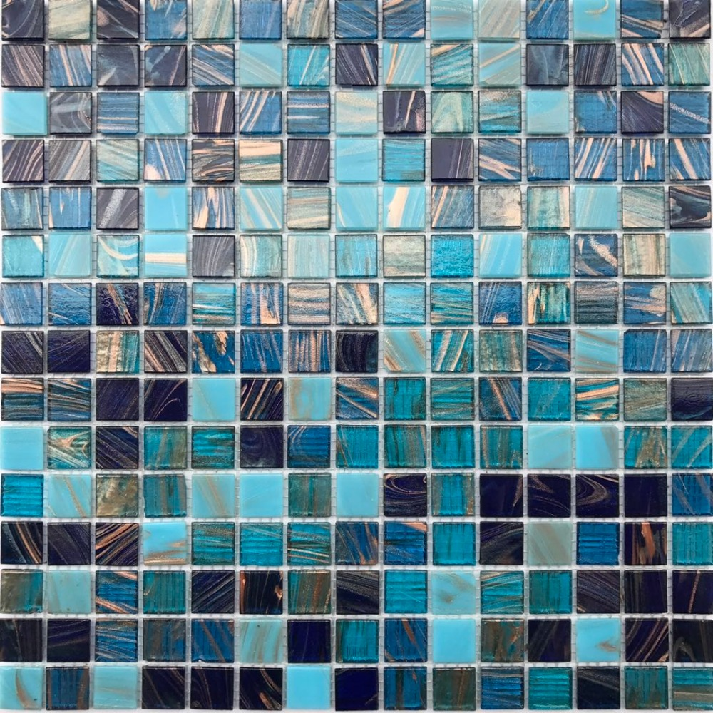 - Iridescent Gole Line Blue White Glass Mosaic Tile For Kitchen Backsplash  Bathroom Shower Wall Tile Sticker Free Shipping ,22 Pcs|Wallpapers-  AliExpress