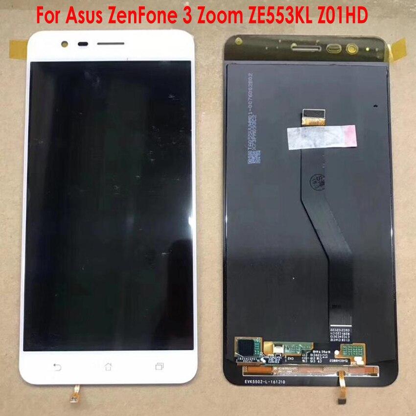 Meilleur Capteur de Travail Écran lcd Écran Tactile Digitizer Assemblée + Cadre Pour Asus ZenFone 3 Zoom ZE553KL Z01HD ZE553 z01HDA