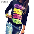 Fashion 2016 Tee Shirt Femme Autumn Long Sleeve Tshirt Women Tops  Poleras De Mujer Print T-shirt Camisetas Mujer