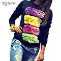 Fashion 2016 Tee Shirt Femme Autumn Long Sleeve Tshirt Women Tops  Poleras De Mujer Print T-shirt Camisetas Mujer