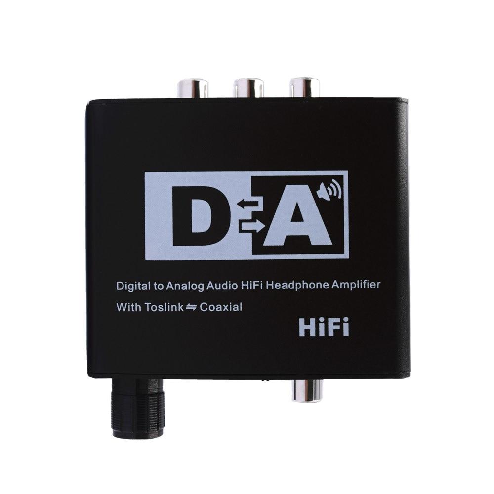 Цифро аналоговый аудио конвертер Hi Fi усилитель для наушников с Toslink коаксиальным адаптером для ТВ приставки и колонок