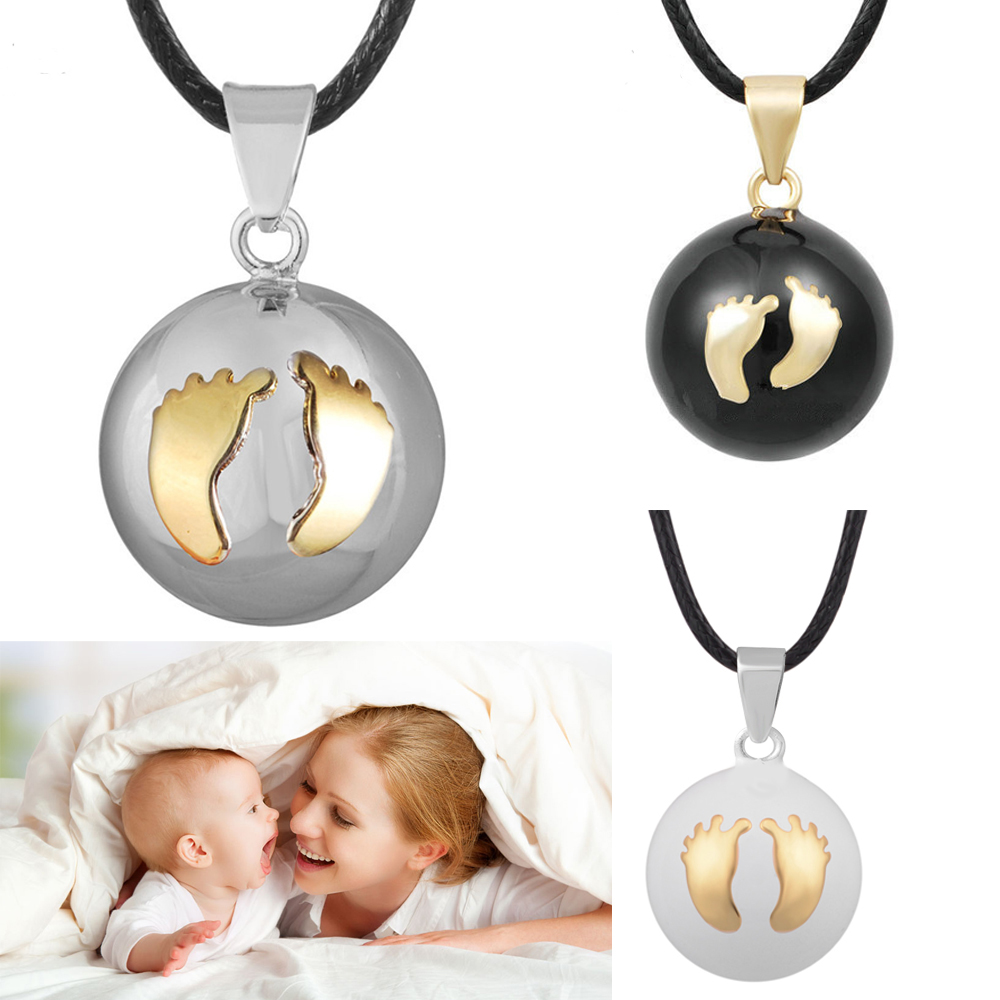 3PCS Cute Footprint Angel Caller Ball Pendant Pregnancy Chime Belly Hamony Bola Pendants Jewelry For Pregnant Women 2018 New