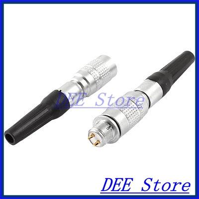 DC 30V 0.2A 2 Pin Rubber Tube Quick Butt Joint Cable Aviation Connector Plug