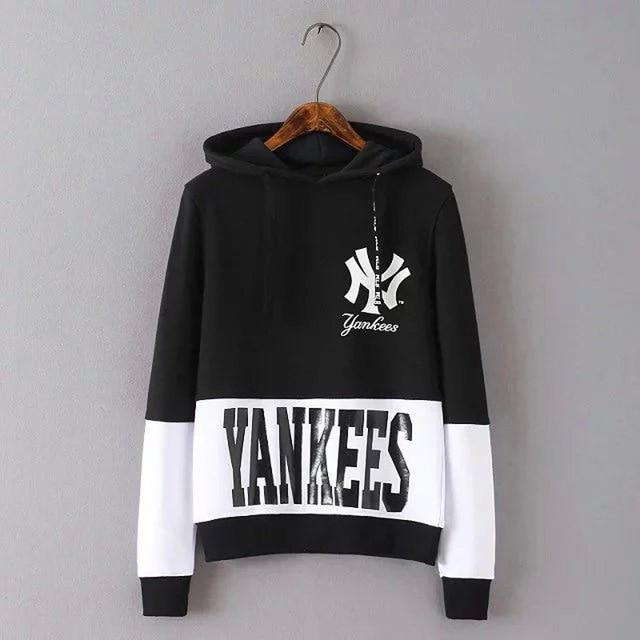 5d795aa3 US $34.4  Yankees 2016 Autumn Womens Hoodies Print Pullover Long Sleeves  Womens Hoodies Kpop Clothes Sweatshirt Women Moletons Femininos-in Hoodies  & ...