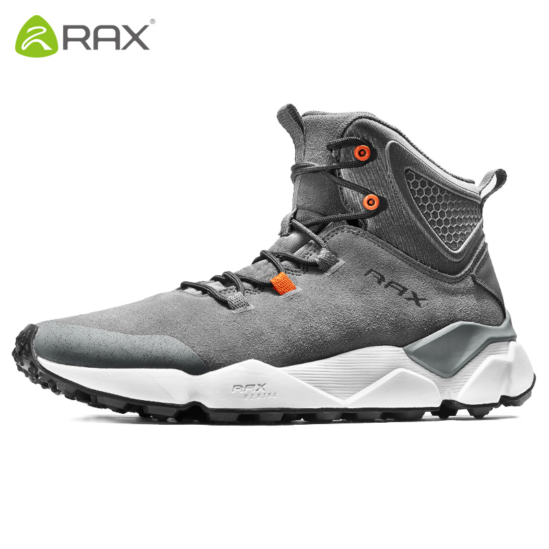 Men Professional High Top Hiking Shoes Women Lightweight Genuine Leather Shoes Couple Non-Slip Breathable Climbing Shoes AA52334 hifeos men winter outdoor hiking shoes couple anti slip breathable boots mesh couple climbing mountaineer low top sneakers m067