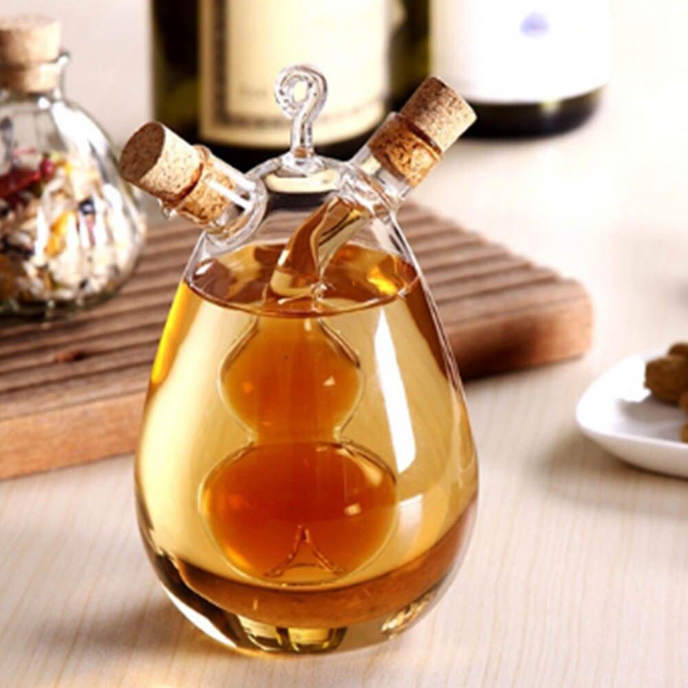 2019 Pots d'huile Anti-fuite bouteilles de condiments en verre scellé Sauce vinaigre Pot bouteille 350ml