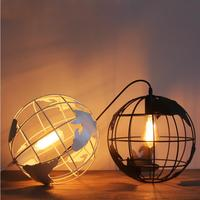 Globe Pendant Lights Black White Lampshade For Kitchen Bar Dining Room Restaurant Coffee Shop Home