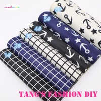 6pcs 20x22cm Ship S Anchor And Checks PVC Material Leather Can Choose Color