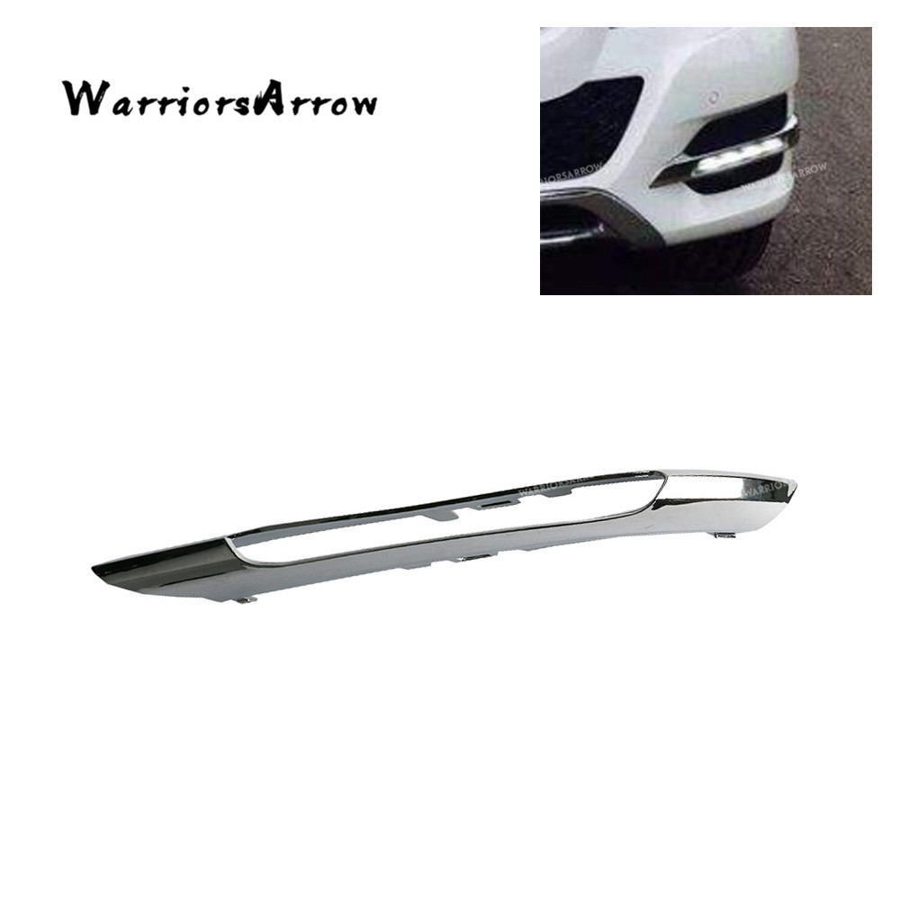 Front left bumper fog light grille chrome molding trim for for Mercedes benz c300 fog light replacement