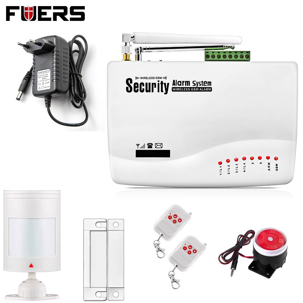 New Two antenna Wireless/Wired Home Intelligent Burglar GSM Voice Alarm System 900/1800/1900Mhz Auto dial alarm system 900 1800 1900mhz gsm alarm system home alarm system alarm systems 2 years warranty russian engish voice and manual