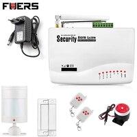 New Two Antenna Wireless Wired Home Intelligent Burglar GSM Voice Alarm System 900 1800 1900Mhz Auto