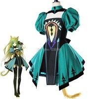 FGO Kader Grand Sipariş Kader Apocrypha Atalanta Tüp Üstleri Kadınlar Için Elbise Cadılar Bayramı Üniforma Kıyafet Anime Cosplay Kostümleri