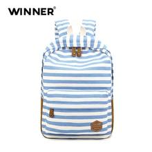 Победитель в полоску женские рюкзак мужчин ноутбук рюкзак школьный для подростков женские ежедневно мешок рюкзаки для девочек SAC DOS Mochila