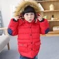 2016 Children Girls Winter Coat,Baby Boys Fur Hooded Cotton-Padded Winter Jacket For Girls,Boys,Black/Red/Orange,Height 90-130cm