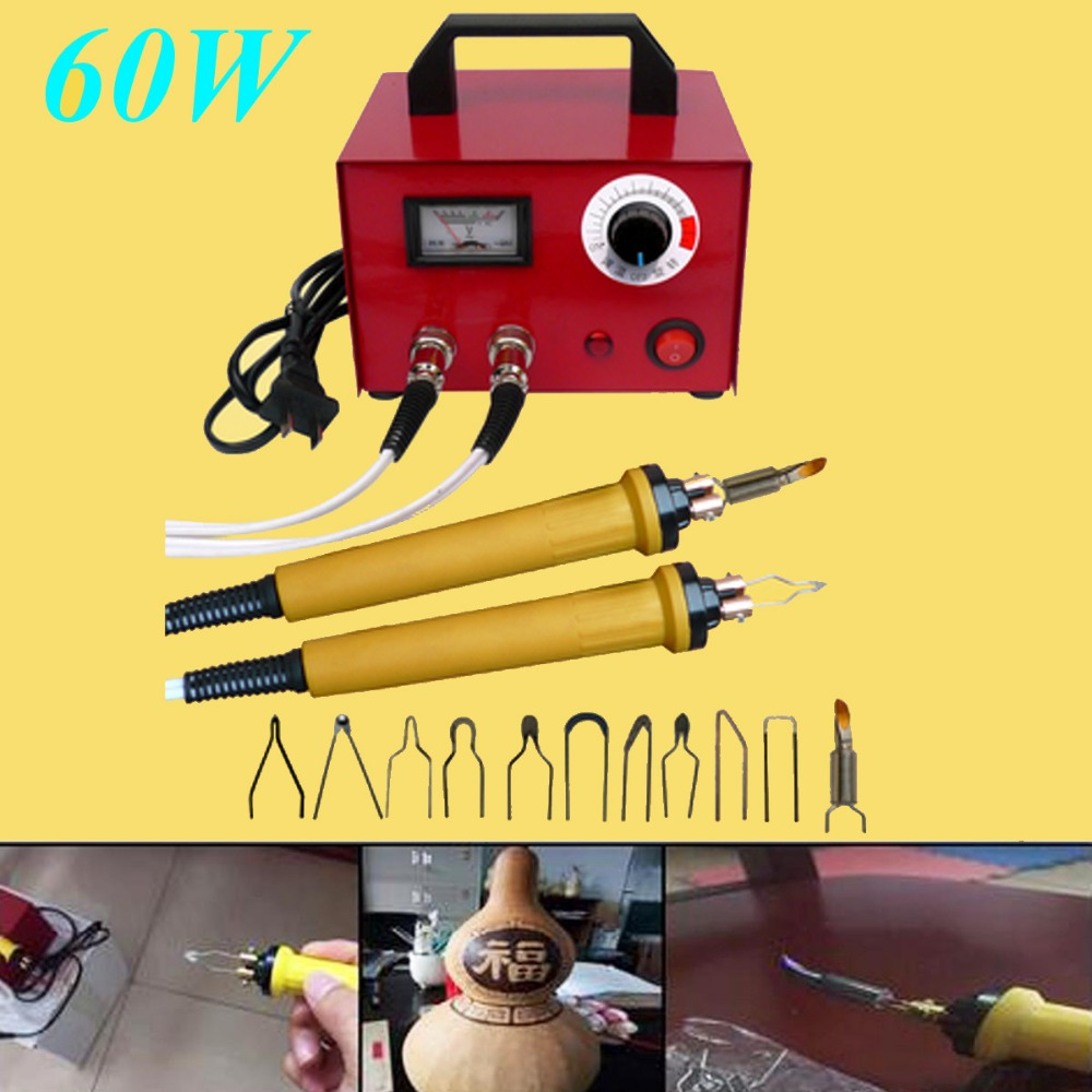 220V 100W Multifunction Laser Pyrography Pen Machine Gourd Wood Craft Tool Kit