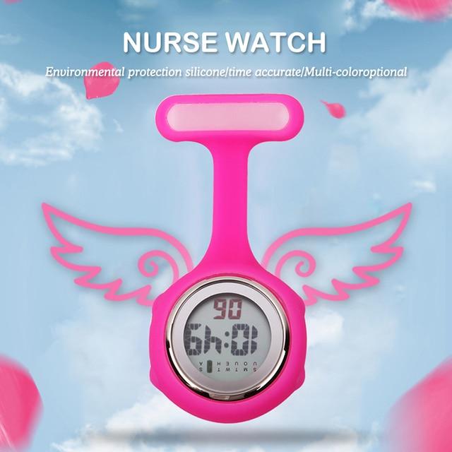 ALK digital nurse watch fashion silicone medical watches lapel doctor fob brooch